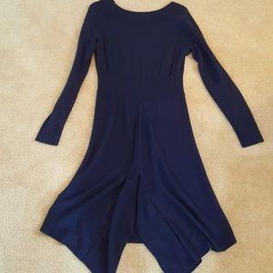 Hi-Low Blue Sweater Dress